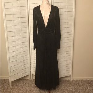 Free People Exposed Button Front Maxi Dress
